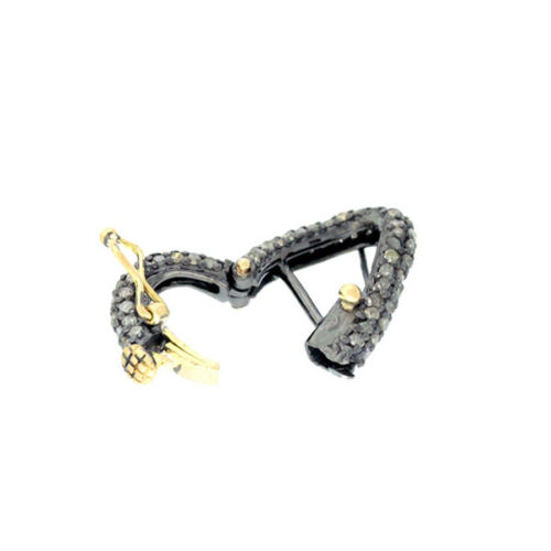 Pave Diamond Clasp Finding 925 Sterling Silver Fashion Jewelry