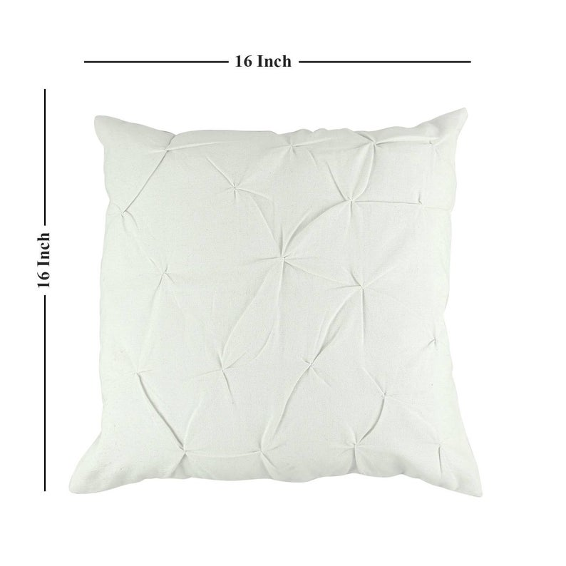 Designer white cotton cushion cover, Hand embroidered thread work cushion/pillow cover, Floral pillow cases,Decorative custom square throw