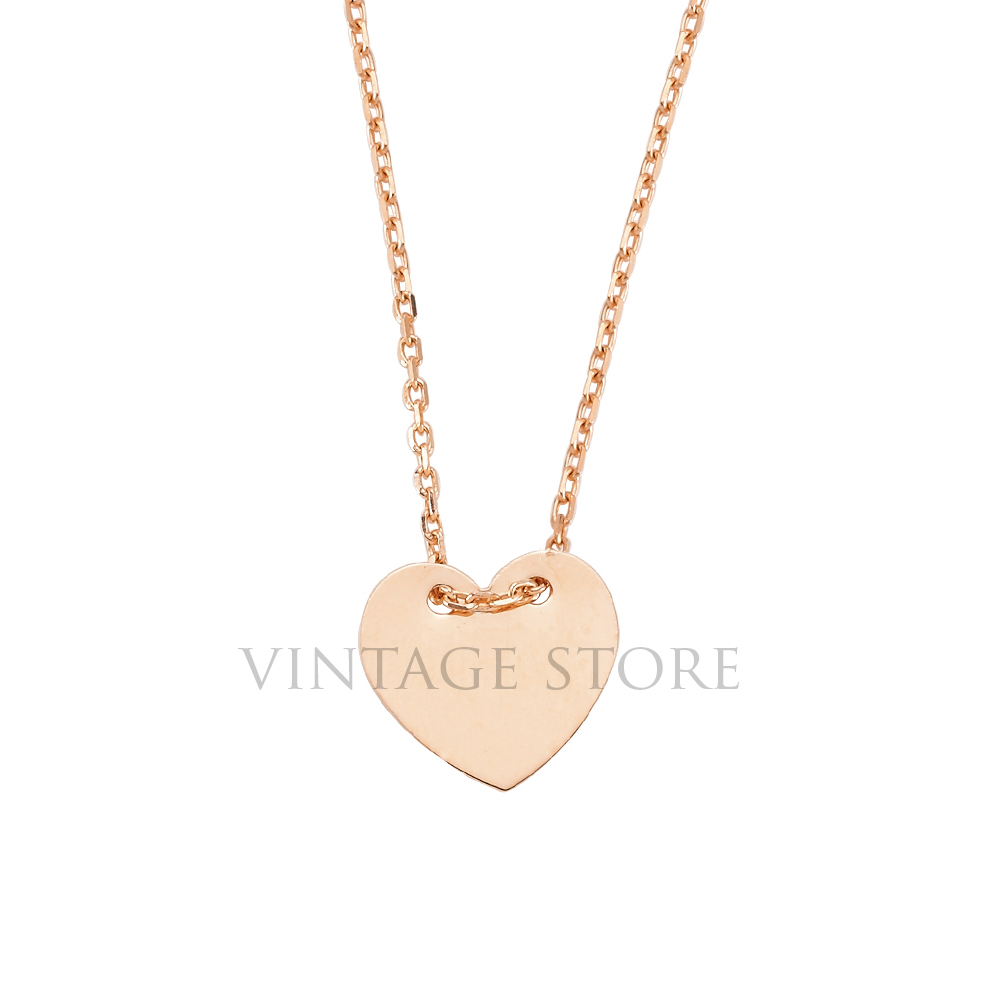 Sterling Silver Heart Shaped Small Plaque Necklace Wholesale Jewelry