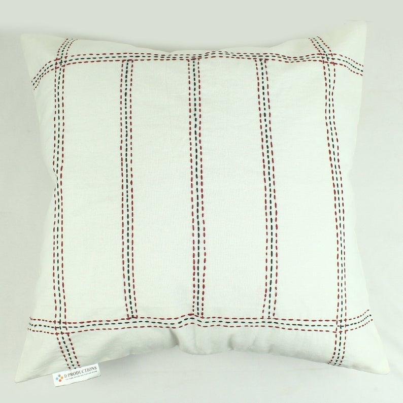 Handmade Cotton Self Design Cushion Covers