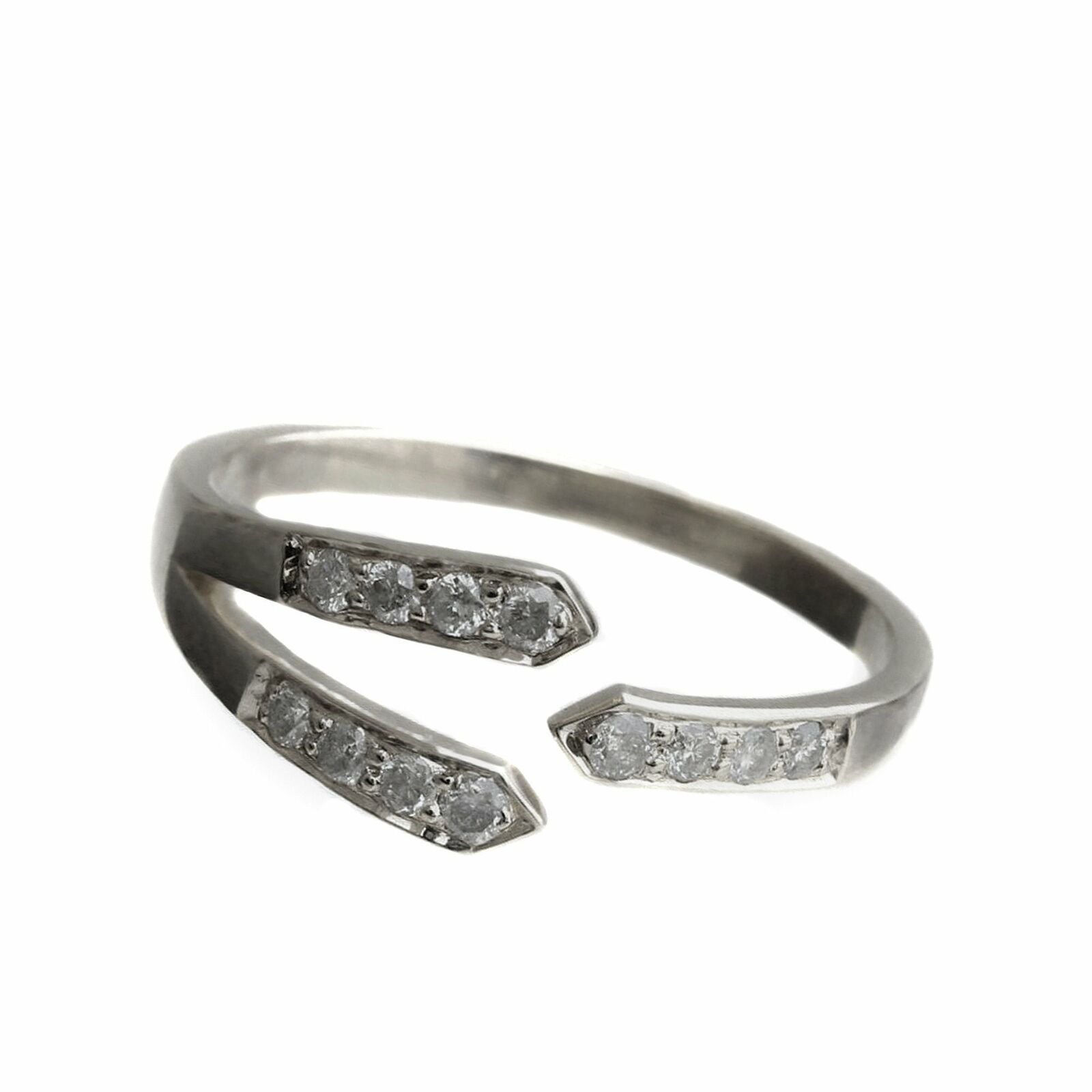 Natural Pave Diamond 925 Sterling Silver Ring Fine Gift her jewelry