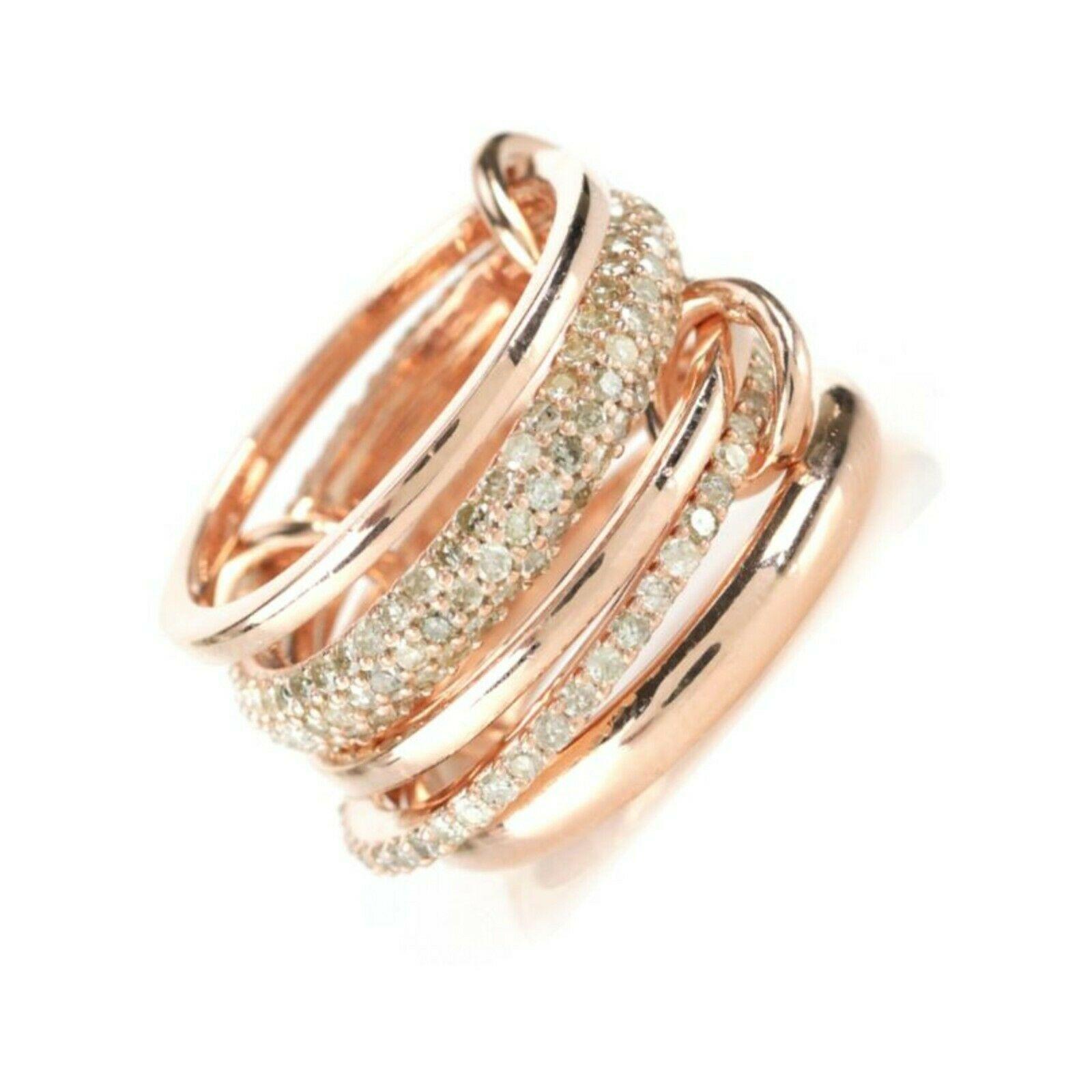 Natural Uncut Pave Diamonds 925 Sterling Silver Rings Womens Diamond Jewelry