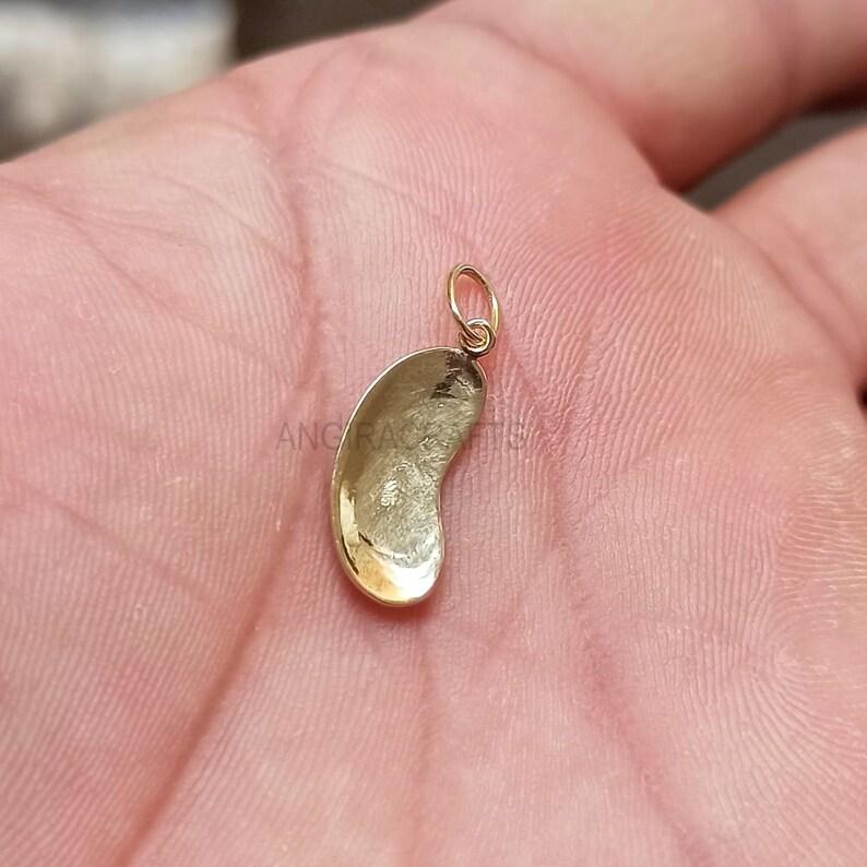 Kidney Beans Pendant, 9k Solid Gold Pendant, Pendant for Necklace, Handmade Beans Pendant, Gold Charms Pendant,Solid Gold Pendant Jewelry